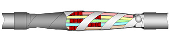Муфта соединительная ПСТК (4-10)х(4-6) с соединителями ГСИ