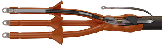 Муфта кабельная 3 ПКНТпб-6 70-120 с наконечниками